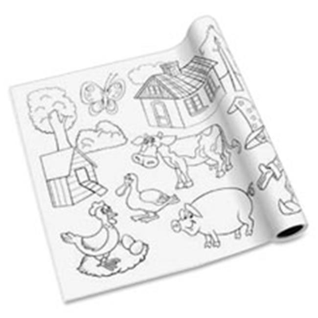 Self Adhesive Kids Coloring Pages - White - image 1 of 1