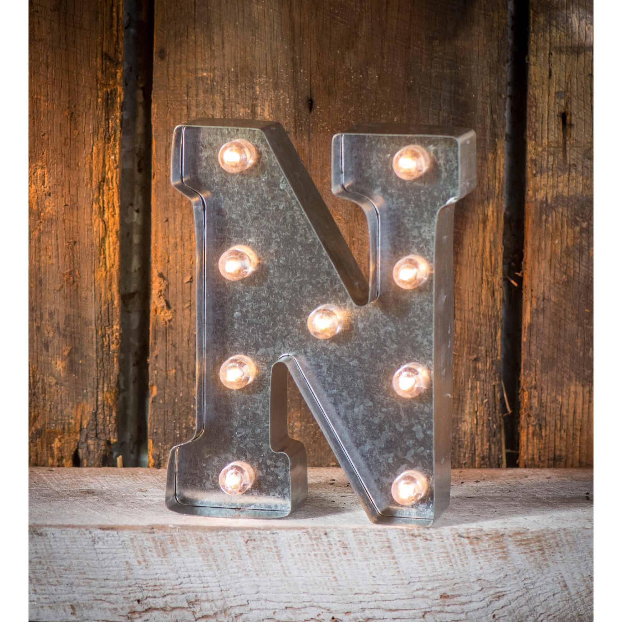 Light-Up Marquee Letter N