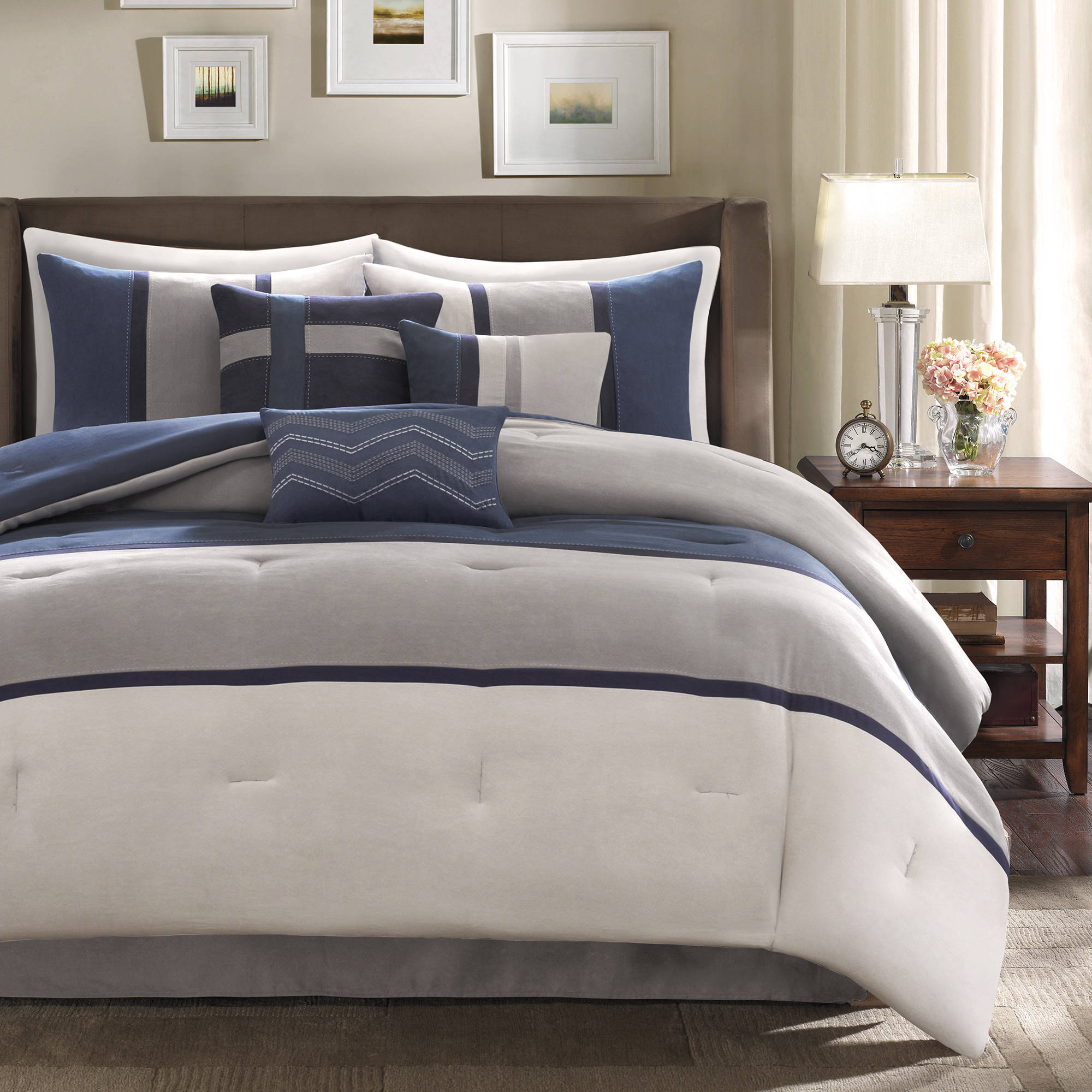 bag regina microsuede piece micro suede comforter set bed in includes a home pin chic plush