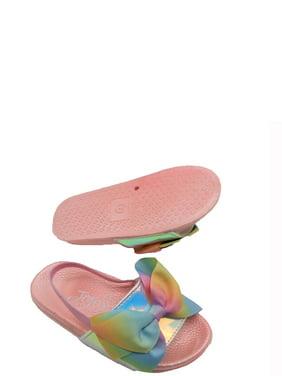 Jojo Siwa Metallic & Ombre Bow Slide Sandals (Toddler Girls)
