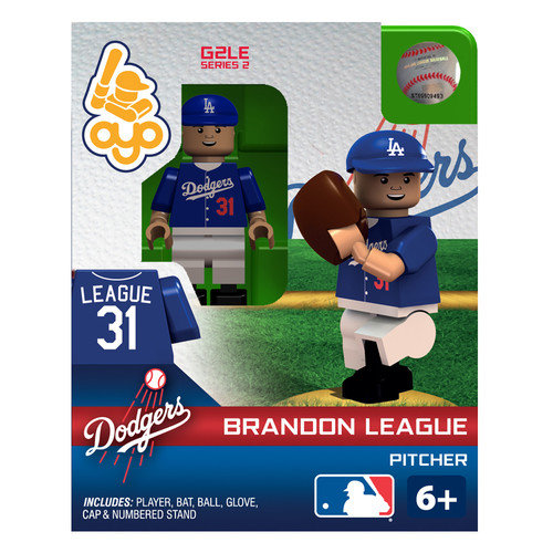 OYO Sports MLB Los Angeles Dodgers MLB Generation 2 Series 2 Brandon League Minifigure