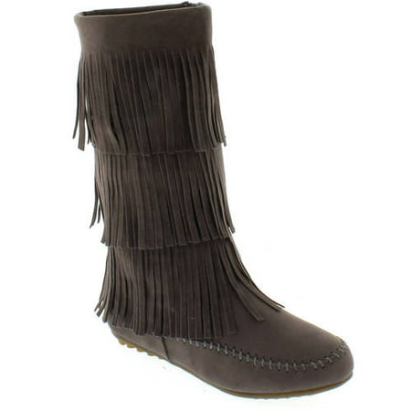 Shoes of Soul Women's Fringe Boots - Walmart.com