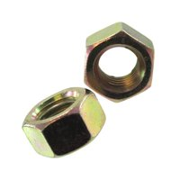 """1/4""""-20 Zinc Yellow-Chromate Grade 8 Hex Nuts (Pack of 12)"""