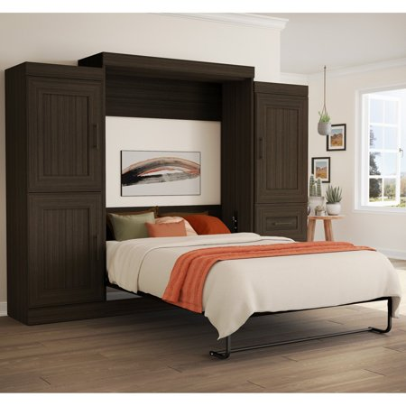 Bestar Edge Murphy Bed With 2 Storage Units Full