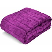 Your Zone Chanel Fur Throw, 1 Each