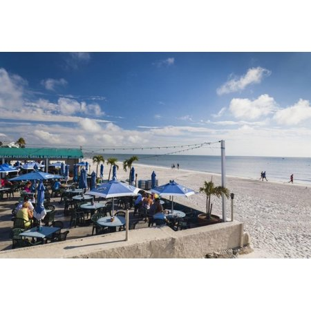 USA, Florida, Gulf Coast, Fort Myers Beach, Beachfront Cafes Print Wall Art By Walter (Stores In Fort Myers Florida)