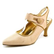 Bellini Zola Women W Pointed Toe Canvas Tan Mary Janes
