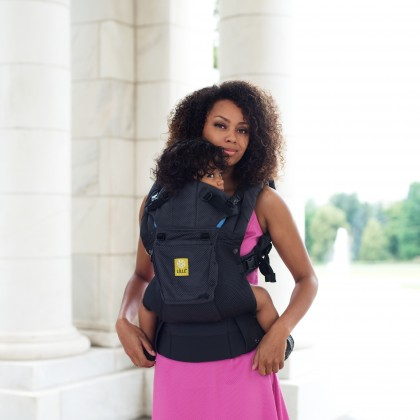 Click here to buy LILLEbaby Airflow Baby Carrier Charcoal by lillebaby.