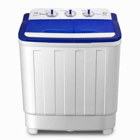 Ktaxon 16.6LBS Mini Twin Tub Portable Compact Washing Machine Spin Dry Cycle-Wash 10LBS+6.6Spin LBS Capacity Washer ()