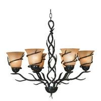 Kenroy Home Twigs 6-Light Chandelier, Bronze