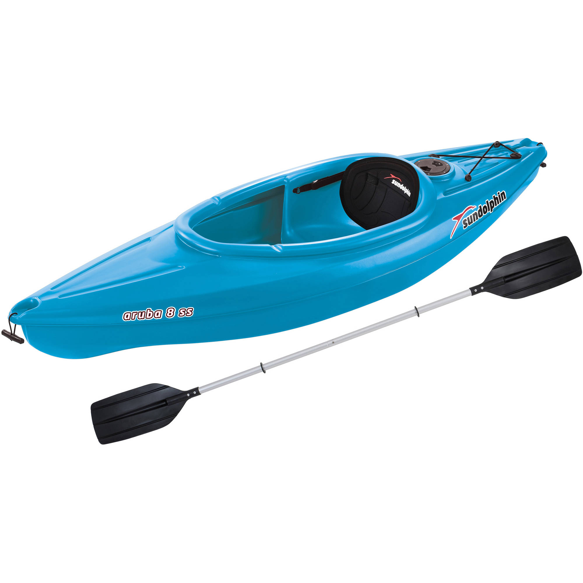 Sun Dolphin Aruba 8' SS Sit-In Kayak, Paddle Included