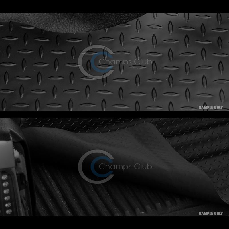 R/&L Racing Black Rubber Diamond Plate Truck Bed Trunk Floor Mat Carpet 07 Silverado 6.5//78