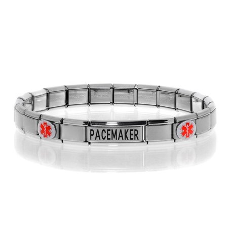 Modular Charm Medical Alert ID Bracelet Jewelry -