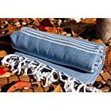 Gray Blue High Quality Cotton Towel As Bath Towel Beach Towel Turkish Towel Gym Fouta Fitness Throw Pool Yoga