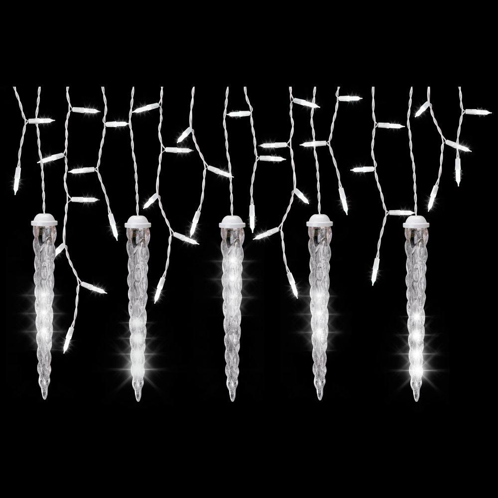 Lightshow 5 Light White Icicle String Light Set With Shooting Star Icicles 8 Ft Walmart Com