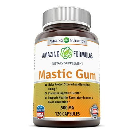 Amazing Formulas Mastic Gum 500 Mg 120 Capsules