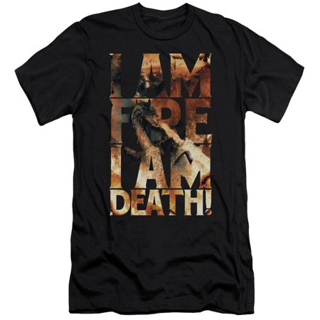 Nfl Am Crew Halloween (Hobbit - I Am Fire - Slim Fit Short Sleeve Shirt -)