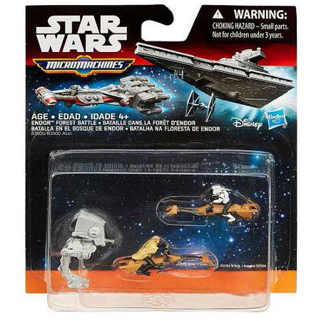 Star Wars Return of the Jedi Micro Machines 3-Pack Endor Forest Battle - Star Wars Gumball Machine