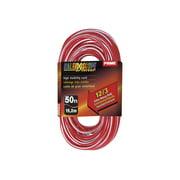 Prime Kaleidoscope KC500328 - Power extension cable - NEMA 5-15 (F) to NEMA 5-15 (M) - AC 110 V - 50 ft - red/white
