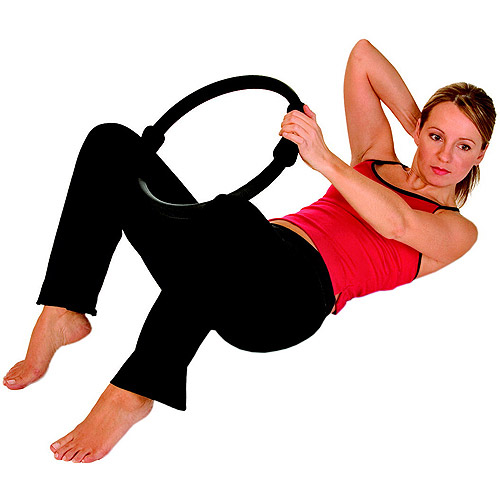 Sportime Light-Weight Steel Pilates Ring, Black