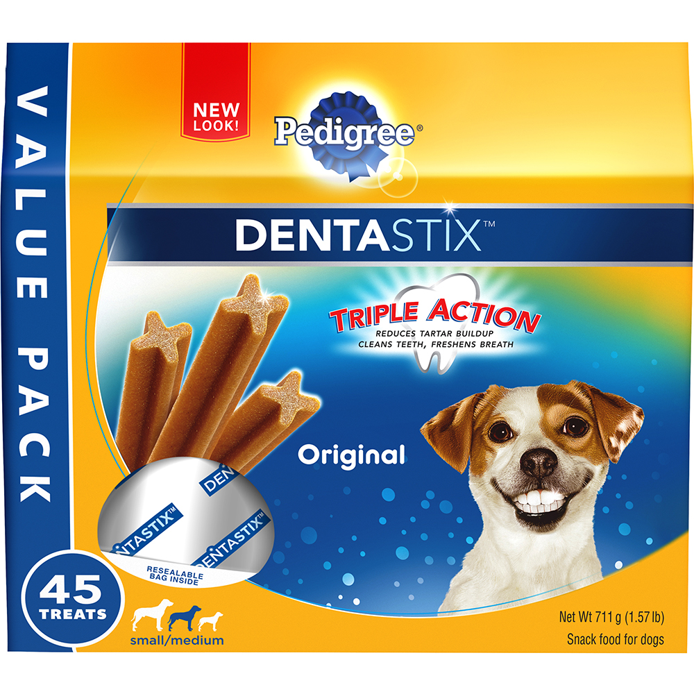 PEDIGREE DENTASTIX Original Small/Medium Treats for Dogs 1.57 Pounds 45 Count