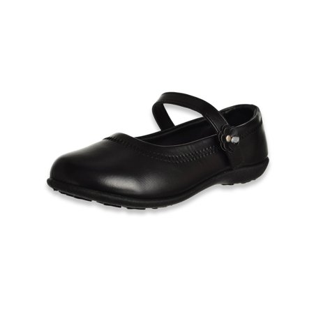 Eddie Marc Girls' Roundabout Stitch School Shoes (Sizes 5 -