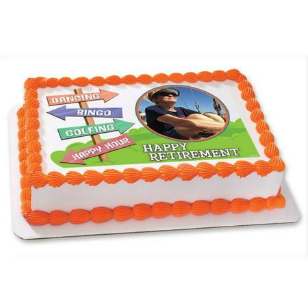 Happy Retirement Edible Cake Topper Frame