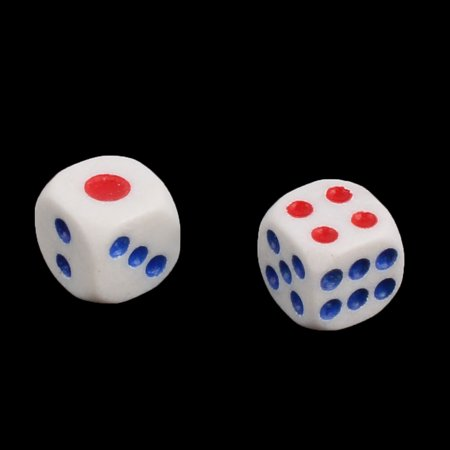KTV Plastic Square Shaped Casino Lucky Games Shaking Dice Tricolor 100pcs - image 1 de 2