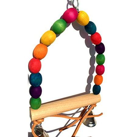 Bonka Bird Toys 1279 Wood Swing Bird Toy.