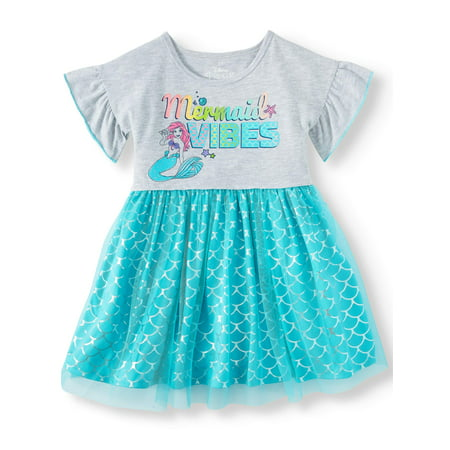 Tutu Dress (Toddler Girls) - Girls Ariel Dress