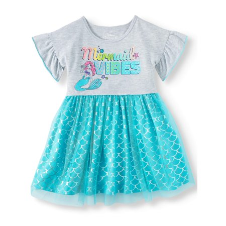The Little Mermaid Tutu Dress (Toddler Girls) - Winter Dress Girls