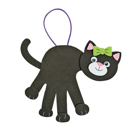 IN-48/8195 Black Cat Handprint Craft Kit Makes 12