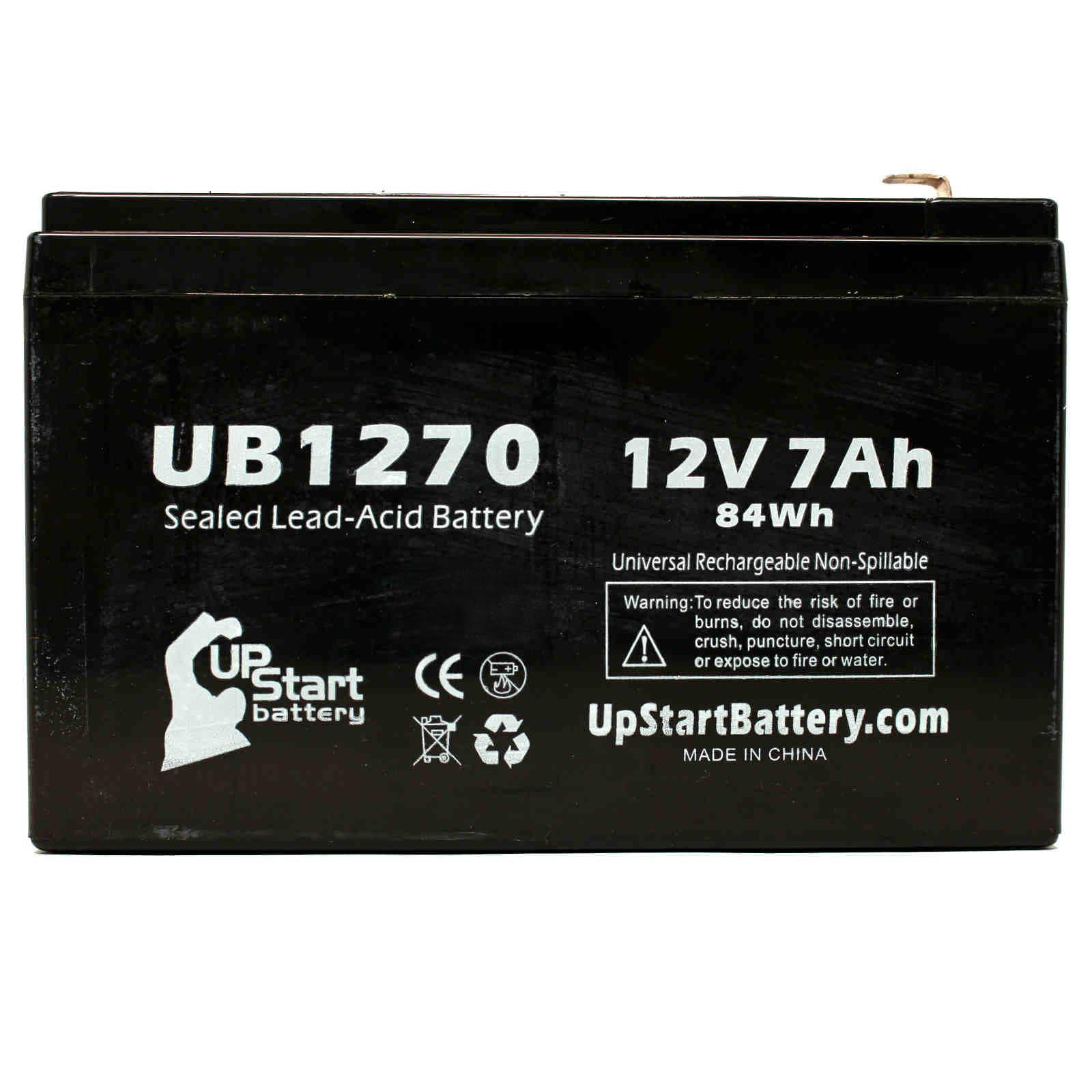 Tripp Lite AVRX750U Battery Replacement - UB1270 Universal Sealed Lead Acid Battery (12V, 7Ah, 7000mAh, F1 Terminal, AGM, SLA) - Includes TWO F1 to F2 Terminal Adapters - image 3 de 4