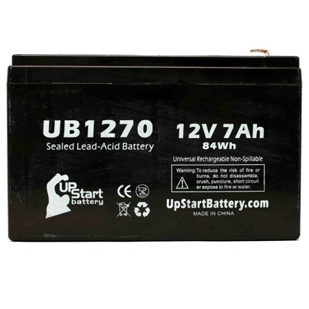 Casil/Chee Yuen Industries CA1270 Battery Replacement - UB1270 Universal Sealed Lead Acid Battery (12V, 7Ah, 7000mAh, F1 Terminal, AGM, SLA) - Includes TWO F1 to F2 Terminal Adapters - image 3 de 4