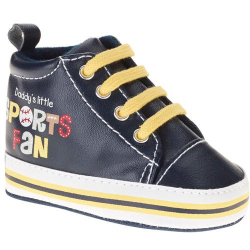 Gerber Newborn Boy Sport Fan High Top Soft-Sole Sneakers