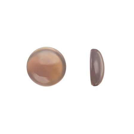 Beading Supply 18mm Round Dome Semi-Precious Cabochon Stones Grey Agate 3pcs