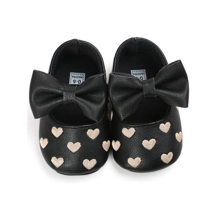 Baby Shoes Baby Girl Soft Sole Shoes Dots Bowknot Toddler Anti-slip Shoes Newborn To Mother & Kids