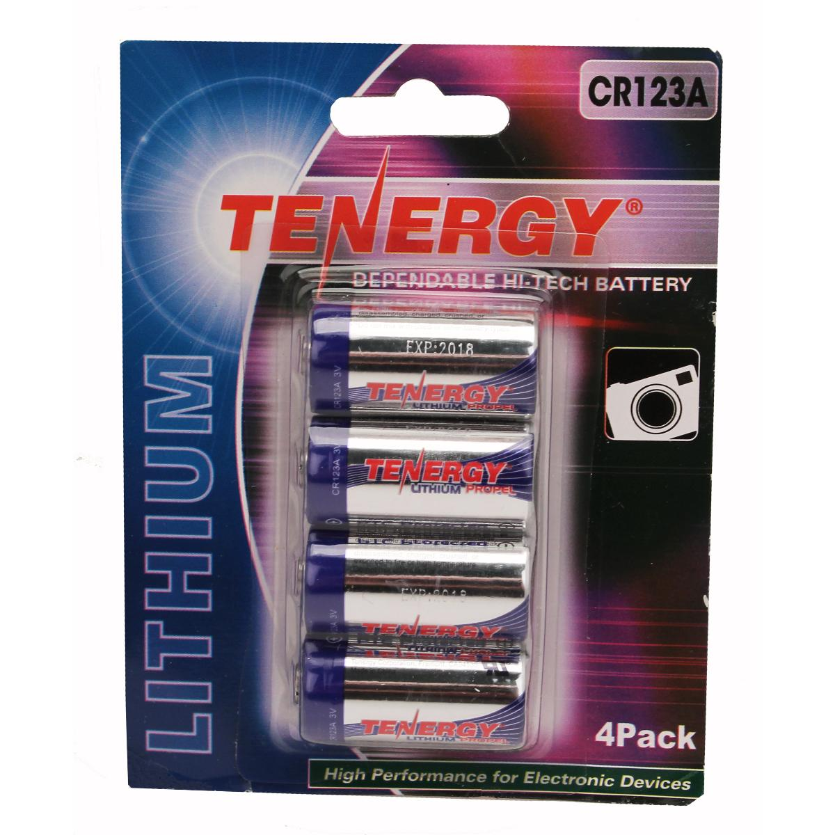 Fenix Flashlights Tenergy CR123 4Pack (Retail),Chrome