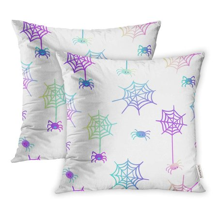 ARHOME Cute in Pastel Colors on White 80S Goth Great Halloween Party Flyers Pillowcase Cushion Cover 20x20 inch, Set of 2