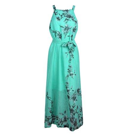 34900f7c7d Women's Fashion Summer Boho Long Maxi Dress Sleeveless Beach Dresses  Sundress Party Evening Floral Print Long Dress