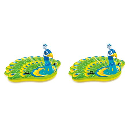 Intex Giant Inflatable Colorful Peacock Island Ride On Pool Float Raft (2 Pack) - image 5 de 5