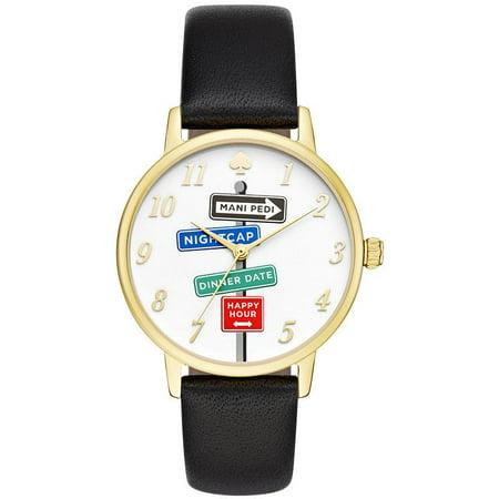 Kate Spade Metro Clocktower Gray Leather Ladies Watch Ksw1128