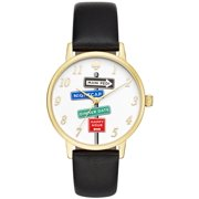Kate Spade New York Women's Metro Clocktower Gray Leather Watch KSW1128