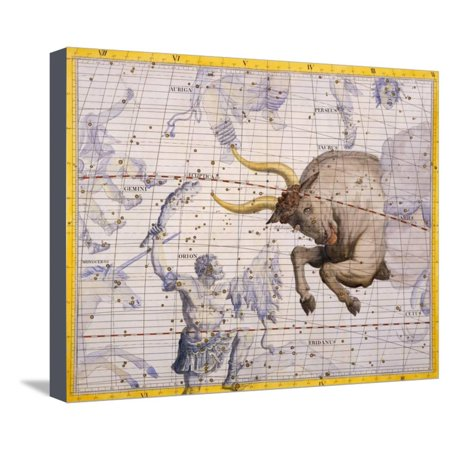 Orion Collection Bridge (The Constellation of Taurus the Bull and Orion by James Thornhill Stretched Canvas Print Wall Art By Stapleton)