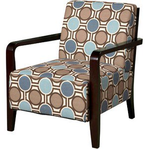 Contemporary Accent Chair With Wood Arms Walmartcom