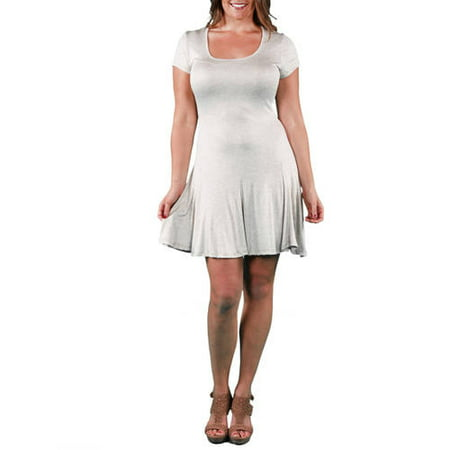 Women\'s Plus Size Short Sleeve A-Line Dress