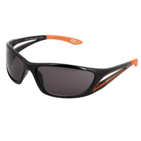 Unisex Plastic Full Frame Sports Casual UV Protection Sunglasses Orange (Casual Lifestyle Collection Sunglasses)