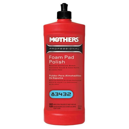 Mothers Polish 83432 32 Oz Bottle of Professional Foam Pad Polish for