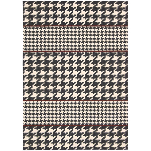 Joseph Abboud Griffith Domino White/Black Area Rug