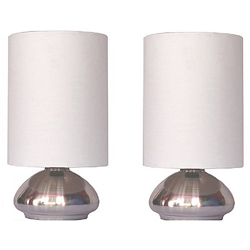 Simple Lamp Designs simple designs gemini 2-pack mini touch lamp with brushed steel
